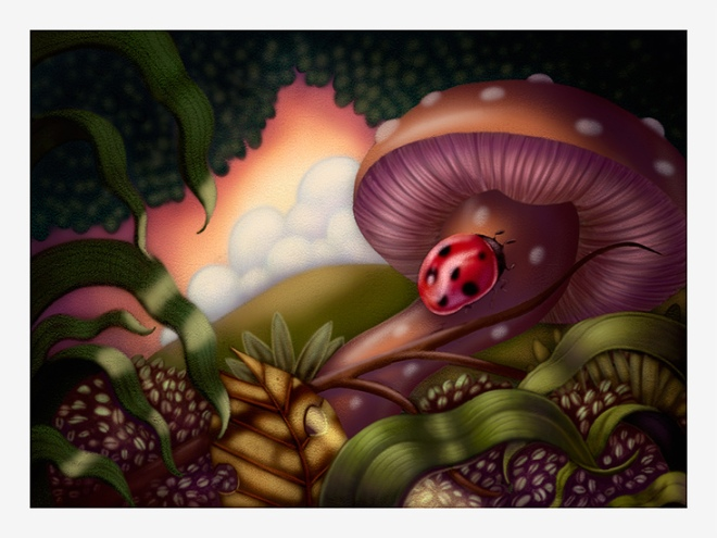 Mushroom and Lady Bug